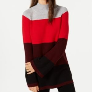 Charter Club Striped Ribbed Trim Pullover Sweater